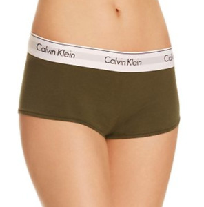 Calvin Klein Modern Cotton Boyshorts Green Women's Size S 60218