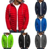 Herren Hoodie Bubble Coats Gepolsterte Jacke Winter Warme Outwear