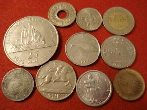 10 World Coins 1916 - 2009