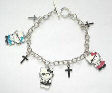Hello Kitty cute gothic lolita halloween charm cross chain pirate goth Bracelet