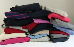 100% Pure Cashmere Cutter Craft Lot 10+ lbs 23 pieces Sweaters Multicolor Wool