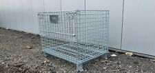 More details for metal folding stackable heavy duty cargo pallet crate 800kg capacity