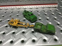 1969 Tootsie Toy Jeeps & Tow Truck W/ Trailer
