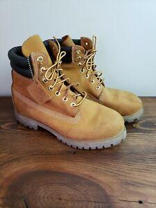 Timberland Mens's Size 7 M Wheat Nubuck Leather Premium Lace Boots 73540