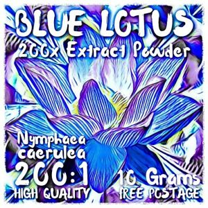 Blue Lotus | (Nymphaea Caerulea) 200x Extract Powder [10 Grams] Blue Lily
