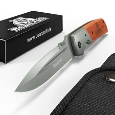 BearCraft Klappmesser Extra Lang | Survival Taschenmesser | Outdoor Messer