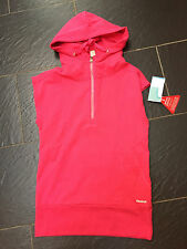 REEBOK PINK RELAXED FIT HOODED TOP SIZE XS EXTRA SMALL BRAND NEW