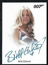 "James Bond Archives Final Edition Autograph Britt Ekland ""Very Limited"""