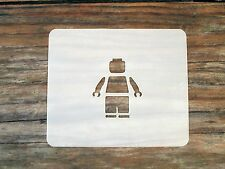 Lego Man Face Painting Stencil 7cm x 6cm 190micron Washable Reusable Mylar