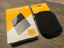 Western Digital WD My Passport 1TB External Portable Hard Drive + Case Black USB