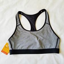 Champion Sports Yoga Bra Gray Black Duo Dry Power Core Compression Size L