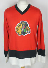 Vintage Chicago Blackhawks Knitted Ice Hockey Jersey Shirt 60's / 70's Size S-M