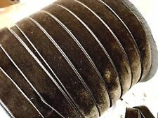 "VINTAGE 5/8"" VELVET ribbon SWISS 3 yds Milk Chocolate Brown"