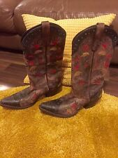 Floral Pull On Cowboy, Western Boots for Women
