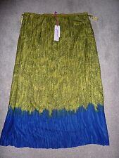 New NWT Per Una Marks and Spencer size 18 long skirt green blue, straight