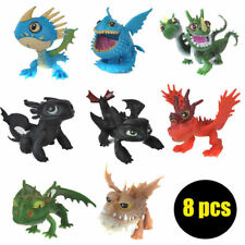 8/1x Cute Movie How to Train Your Dragon Night Fury Action Figures Doll Toy s230