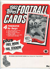 1982 Topps Football Cards    Selling sheet sales sheet vendor info rare    MBX80