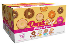 DONUT CAFE SINGLE SERVE COFFEE K CUP PODS, FLAVORED VARIETY PACK, 80 CT