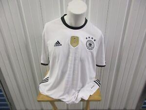ADIDAS GERMANY NATIONAL FOOTBALL MENS TEAM XL SEWN WHITE JERSEY NWT 2014 WC