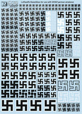 German Luftwaffe Swastikas for WW2 - decal 1/72; 1/48; 1/32 Multi Scale from FCM