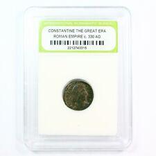 Ancient Roman Constantine The Great Era Ancient Bronze Coin c. 330 A.D.