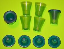 6 plastic ICE shot glass molds