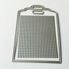 Tag Cross Stitch Cutting Dies Stencil For DIY Scrapbooking Album Card Embossing