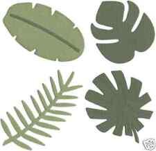 """Quickutz/Lifestyle Crafts C-0054-S-REV  """"Tropical Leaves"""" 4x4"""" Die CUSTOM  DIE"""