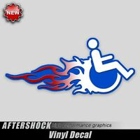 Handicapped Hot Rod Wheelchair Decal Handicap Flames Window Truck Car Sticker