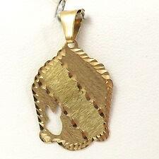 Engraveable Disc Charm Pendant 1.5 gr 14K Gold Diamond Cut Playboy Bunny