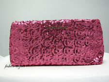 Victoria's Secret LIMITED EDITION PINK SEQUIN CLUTCH - PURSE  >> NEW WITH TAG <<