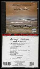 """MARCEL DE JONGHE """"A Composer's Testimony"""" (CD) 1993 NEUF"""
