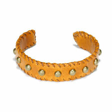 Dogeared Cuff Love/Studded Leather in Tobacco NEW!!
