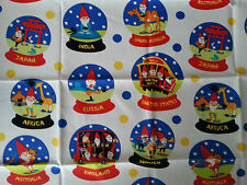 Brand New Snow Globe Gnome Print Fabric