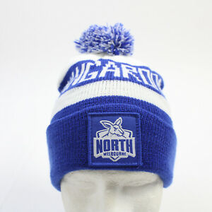 North Melbourne Kangaroos FC AFL Winter Hat Unisex White/Blue Used
