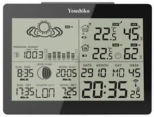 Youshiko YC9360 Digital Wireless Weather Station with Radio Control Clock - Black