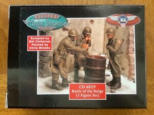 Custom Dioramics 1/35 Battle of the Bulge 3 Figures 1:35 Scale Model Kit CD 4029