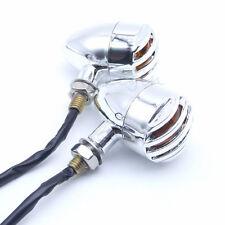 Motorcycle Chrome Bullet LED Turn Signal Light Blinker Amber Bulb Indicator Lamp