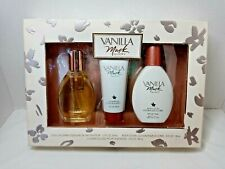 Vtg Coty Vanilla Musk 3 pc Gift Set Cologne Spray, Lotion, Shower Gel, ORIGINAL