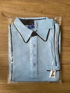 Men's CHUMS Piece Collar Embroidered Top Size M Sky RRP £23
