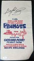 Gaylord Perry Autographed Signed 5lb Peanut Bag from North Carolina Farm JSA COA