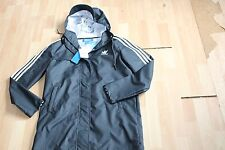 NWT WOMENS ADIDAS SZ L RAINCOAT JACKET CARBON
