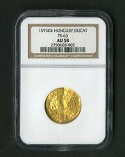 Hungary Gold Coin 1593 KB Ducat FR-63 NGC AU58