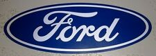 """NEW LARGE OEM 21 1/2"""" CLASSIC FORD MOTOR COMPANY BLUE OVAL VINYL STICKER DECAL!"""