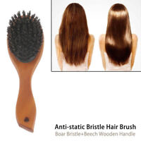 Oval Anti-static Paddle Comb Scalp Massage Hair Brush Boar-Bristle