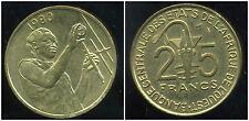 ETATS DE L'AFRIQUE DE L'OUEST  25 francs 1980  ( SUP )