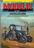 ORIGINAL PAPER-CARD MODEL KIT - LANZ-BULLDOG D9506