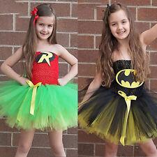 Infantil Disfraz de Superhéroe Batman Cosplay Divertido Vestido de fiesta malla