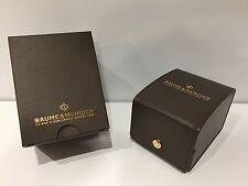 BAUME & MERCIER - Estuche Box Case Scatola - Brown leather - For 1 watch