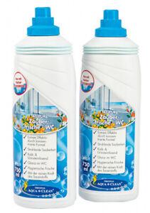 AQUA CLEAN PUR Zauberfrische WC Gel für Glanz im WC extrem effektiv 2x 750ml